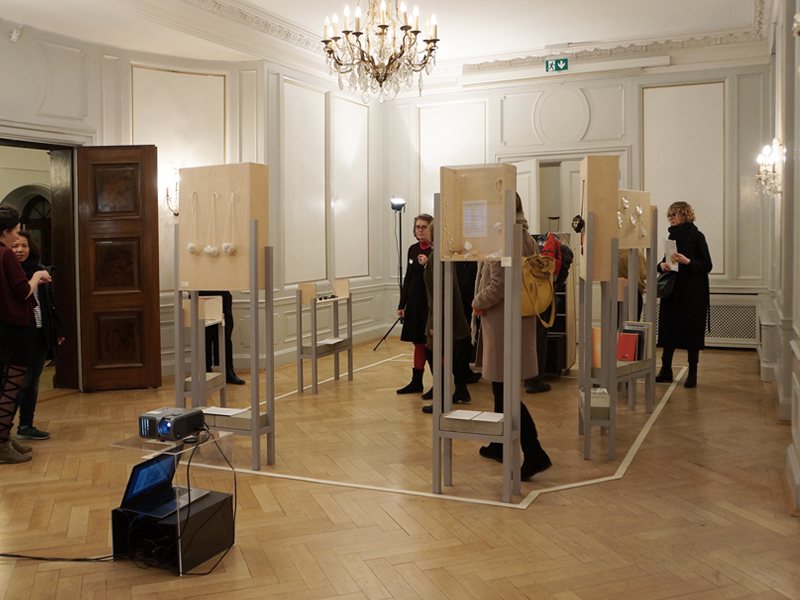 Exhibition view, Résidences Paris München, 2016, Institut Français München, Munich, photo: Benjamin Lignel