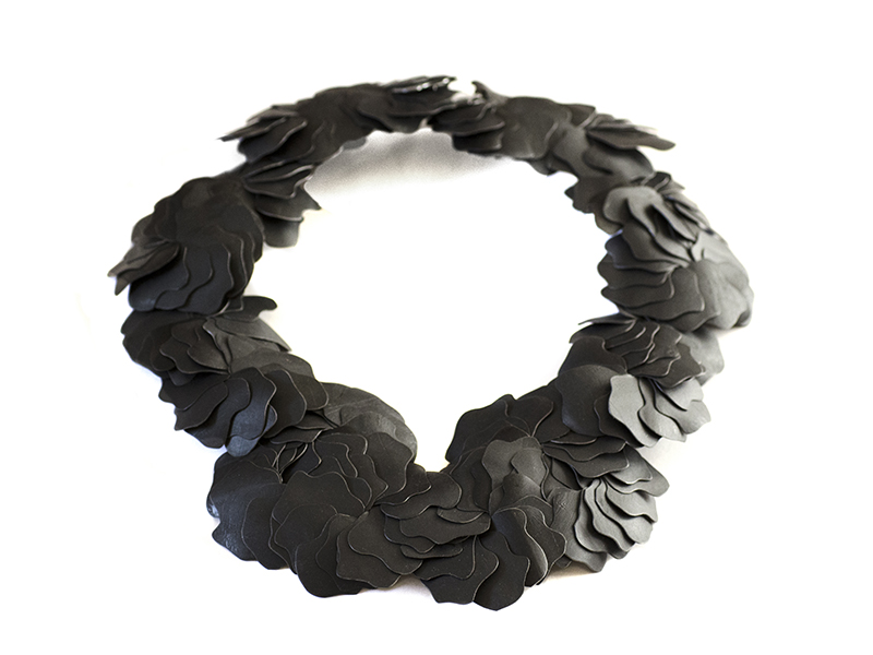 Karin Roy Andersson, Big Black Fossil, necklace