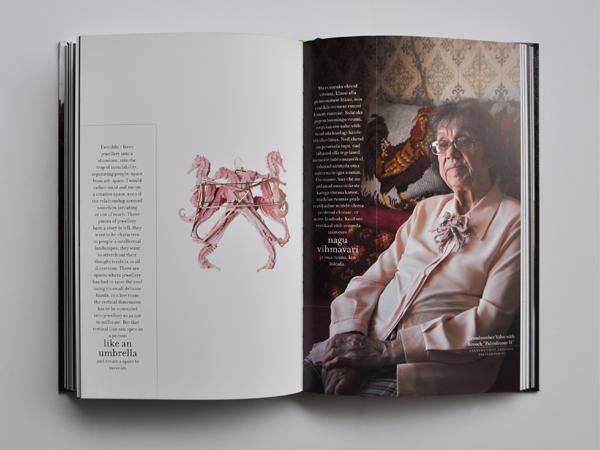 Book inside spread: Handful, Stuttgart: Arnoldsche Art Publishers, 2015, photo: Benjamin Lignel.