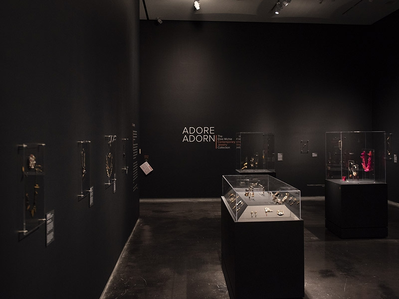 Exhibition view, Adore | Adorn