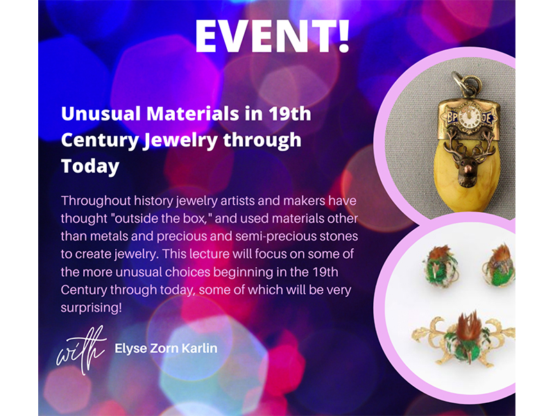 Unusual Materials in 19th Century Jewelry through Today